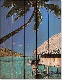 Gizaun Art Tropic Paradise Inside/Outside Full Color Cedar Wall Art 28 x 36 in.