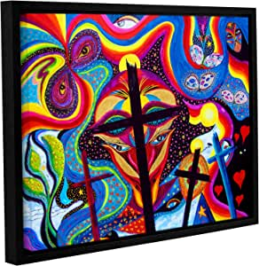 """ArtWall Marina Petro's Crosses To Bear Gallery-Wrapped Floater-Framed Canvas, 14 by 18"""""""