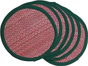 Tribes 印度手工杯垫和桌垫 粉红色 Coasters 1TGAUTLWB00123_2
