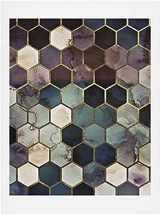 "Society6 Monika Strigel 坚固大理石六角形艺术印刷品,多色,20.32 x 25.4 多种颜色 18"" x 24"" 70749-artpr4"