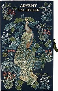 Morris & Co. Beauty Advent Calendar 蓝色森林孔雀图案含24 件沐浴和身体护理项目 多件装美容品圣诞礼物
