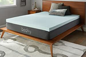 "Bedsy Sleep 3"" 凝胶*泡沫床垫垫,柔软 蓝色 两个 BE30GT30TT"