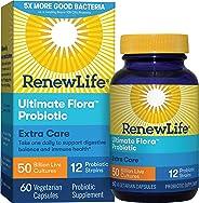 Renew Life A成人益生元——终极植物群额外护理益生元补充剂——货架稳定,无麸质,乳制品和大豆——500亿CFU——60粒素食胶囊