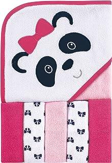 Luvable Friends 带帽浴巾和 5 条毛巾 熊猫 均码