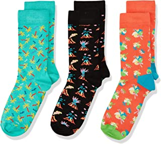 Happy Socks 中性儿童火山礼物盒袜子(3件装)
