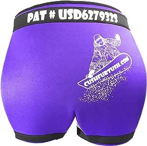 CUSHFURTUSH 加垫短裤臀部衬垫适合青少年男士和女士滑雪、自行车、滑板、滑冰