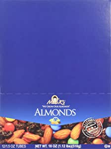 Madi K's Roasted Salted Blend Almonds, 1.5-Ounce Tubes (Pack of 72)