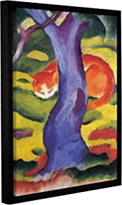 """ArtWall Franz Marc's Cat Behind Tree Gallery Wrapped Floater Framed Canvas, 18"""" x 24"""""""