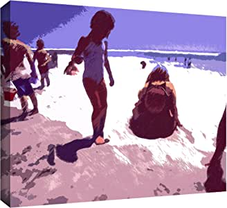 ArtWall Dean Uhlinger 'Beach Day' Gallery-Wrapped Canvas, 24 by 32-Inch