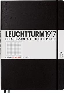 LEUCHTTURM1917 会议记录本(A4+) 310174,轻薄精装,方格,黑色