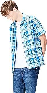 Find 男式明亮格子 RESORT 领短袖衬衫