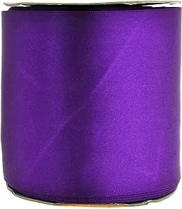 Mandala Crafts 织物缎带用于蝴蝶结造型、缝纫、礼品包装、花束、派对装饰和婚礼 紫色 3 Inches 25 Yards 81109603710