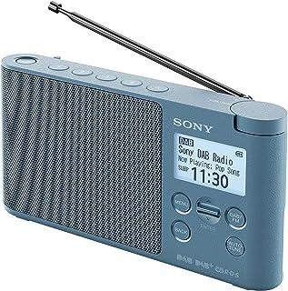 Sony 索尼 XDR-S41D便携式DAB / DAB +无线广播和LCD显示屏-蓝色