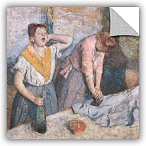 "ArtWall Edgar Degas's The Laundresses Art Appeelz Removable Wall Art Graphic, 18 x 18"""