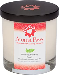 Aroma Paws Basil Odor 中性蜡烛,12 盎司