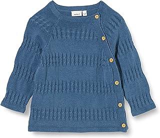 Name It Girl's Nbmdonallo Ls 针织卡开衫毛衣,中国蓝色,80