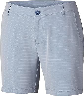 Columbia 女士卷轴休闲梭织短裤,Cirrus 12x8 蓝色 1832131-483-12x8