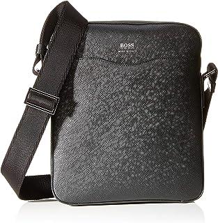 BOSS 男士 Signature_ns 拉链单肩包 黑色, 6.5x27x22.5 cm