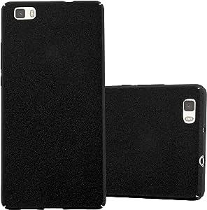 Cadorabo 手机壳与华为 P8 LITE 配合使用(设计 Frosty)- 防震防刮塑料壳保护膜背面外壳DE-109381 FROSTY-BLACK