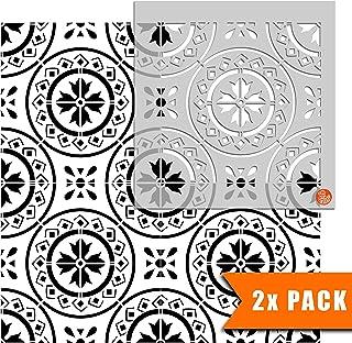 Morello 摩洛哥瓷砖模板用于墙和地板 | 可定制尺寸 6 inches