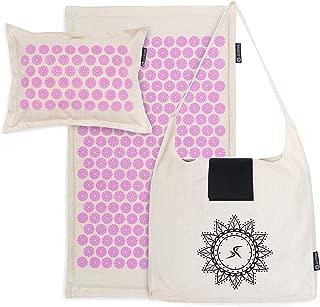 Prosource Fit Ki Acupressure 垫和枕头套装,采用 * 天然亚麻,可缓解背部/颈部*,放松肌肉