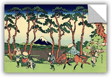 ArtWall Katsushika Hokusai's Hodogaya on The Tokaido Removable Mural Wall Art, 24 x 36""