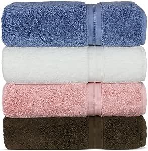 奢华优质土耳其棉毛巾,长稳定 20/2,2 层土耳其环锭纺棉纱使奢华系子,环保 Variety Pack Bath Towels HC-BT-KARE-MIX-4U-L1
