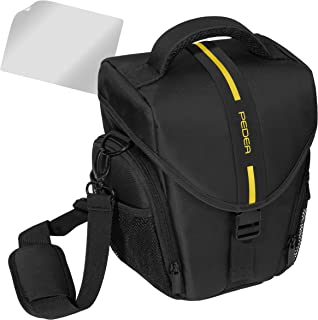 Essex 大型 SLR 手机壳,带雨罩和屏幕保护膜,适用于 Canon EOS M3/30D/50D/400D/450D/100D/1000D /Nikon D5500 /Sony Alpha 6000 相机 - 蓝色SET012-65060313-0000 黄色