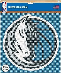 NBA 达拉斯小牛穿孔乙烯基贴纸,30.48 x 30.48 厘米