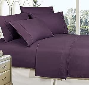 MattRest 奢华丝滑柔软 - 抗皱 1500 支埃及品质超柔防褪色床单套装和枕套,有多种颜色可选 紫色 全部 COMIN18JU046694
