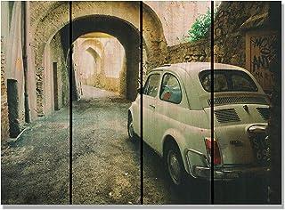 """Gizaun Art 法国菲亚特室内/室外墙壁艺术 白色 22 x 16"""" FF2216"""