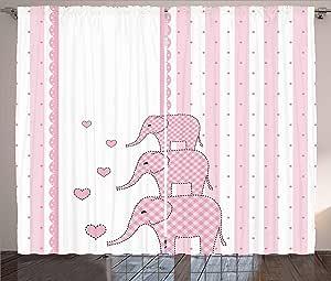 Ambesonne 字母 I 窗帘,游戏球字母主题篮球排球和足球多彩字母,客厅卧室窗帘 2 片套装,多色