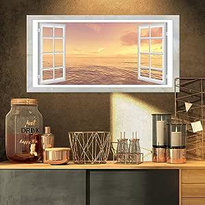 """开窗以棕色海岸特大海岸帆布艺术品 32x16"""" PT11438-32-16"""