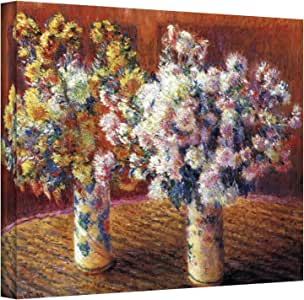 Art Wall Two Vases by Claude Monet Gallery Wrapped Canvas, 24 by 32-Inch