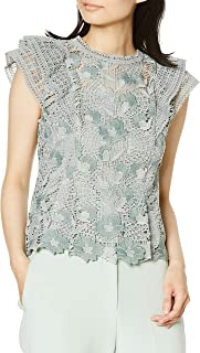 snidel 原创蕾丝荷叶边衬衫 SWFB201085 女士