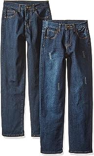 American Hawk 男童 2 件套:五口袋弹力牛仔裤