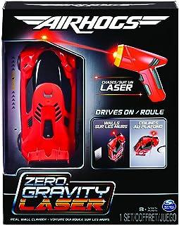 Air Hogs 6054126 – 零重力激光赛车,赛车,带激光遥控的赛车,开在墙壁和天花板上,红色