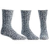 Ballston 中性保暖 88% 美利奴羊毛插肩袜 适用于冬季及户外登山 - 3 双