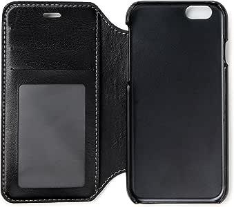 DesignWorks Ink Vegan 皮革钱包式保护套适用于 iPhone6/6SDWP-2075 午夜黑