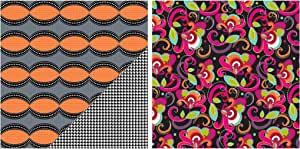 Gift Wrap Company PepperpotAMZ24511 3 Count Premium Wrapping Paper Roll, Delightfully Dapper1, Orange/Gray/Black