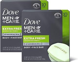 Dove 多芬  男士护理 身体和脸部清洁皂,可清洁和令皮肤湿润,额外清新,比肥皂更滋润 3.75盎司/1.06kg,20块