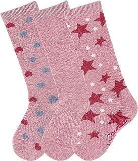 Sterntaler 思丹乐 女童短袜及膝袜 3 件装 心形