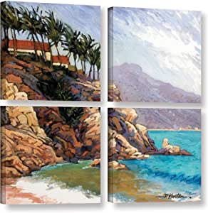 "ArtWall 4 Piece ""Rick Kersten's Cabo San Lucas"" Gallery Wrapped Canvas Artwork, 48"" x 48"""