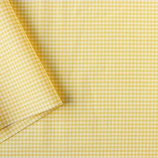 NBK 40s格子布 小 宽110cm×1m断售裁剪 黄色 B53000Z-103-1M
