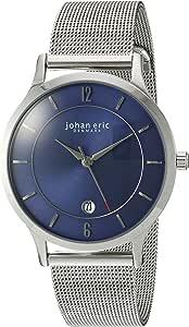 Johan Eric 男式 JE2005-04-003 Hobro 模拟显示石英银色手表