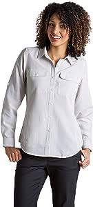 ExOfficio 女士 Rotova 休闲长袖衬衫 X-S 棕色 mp-613543975348