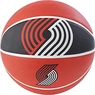 Spalding NBA 波特蘭Trail Blazers NBA Courtside Team 戶外橡膠籃球隊標志,紅色,29.5""