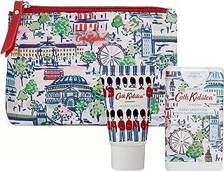 Cath Kidston Beauty London View 化妆品旅行袋礼品套装,30毫升护手霜和15毫升洗手液