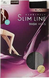 (厚木)ATSUGI 长筒袜 SLIM LINE(细线)大腿长 宽松弹性袜 长筒袜 〈3双装〉