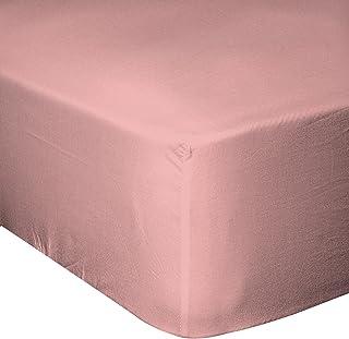 Home Passion 54691 床笠 160 x 200 cm 57 纱支棉粉色